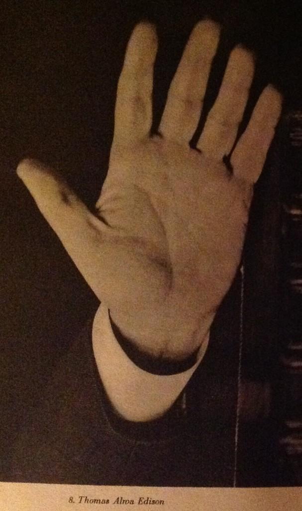 Edison hand print